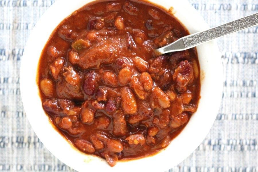 Three Bean Venison Chili