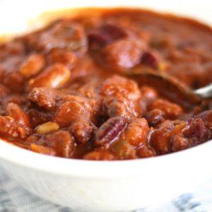 Spicy Three Bean Venison Chili