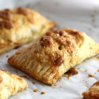 Adorable Baked Apple Hand Pies + Cornmeal Crust
