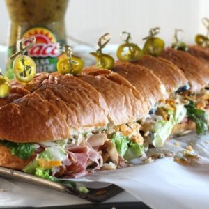 Mexican Gameday Sub Sandwich with Salsa Verde