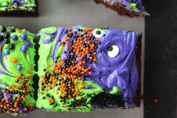 Monster Mash Halloween Brownies - Top 10 Recipes of 2017