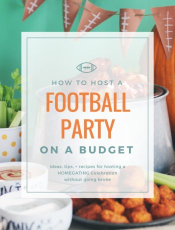 How to Throw a Football Party on a Budget : ideas, tips + recipes on how to host a homegating celebration without going broke.