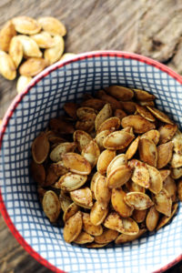 A fall snacking tradition - Roasted Pumpkin Seeds.