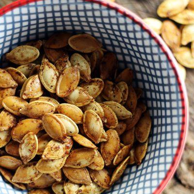 Sugar + Spice Roasted Pumpkin Seeds