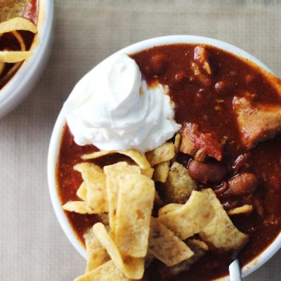 Spicy BBQ Pulled Pork Chili (Rock the Crockpot)