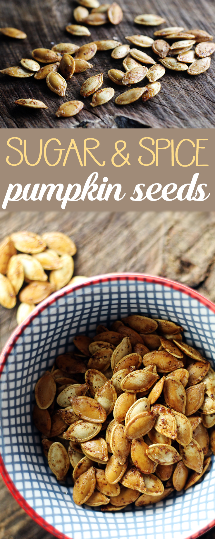 You're gonna fall in love with Sugar + Spice Roasted Pumpkin Seeds   A little sweet + a little spice. Perfect for the season . roastedpumpkinseeds #pumpkinseeds