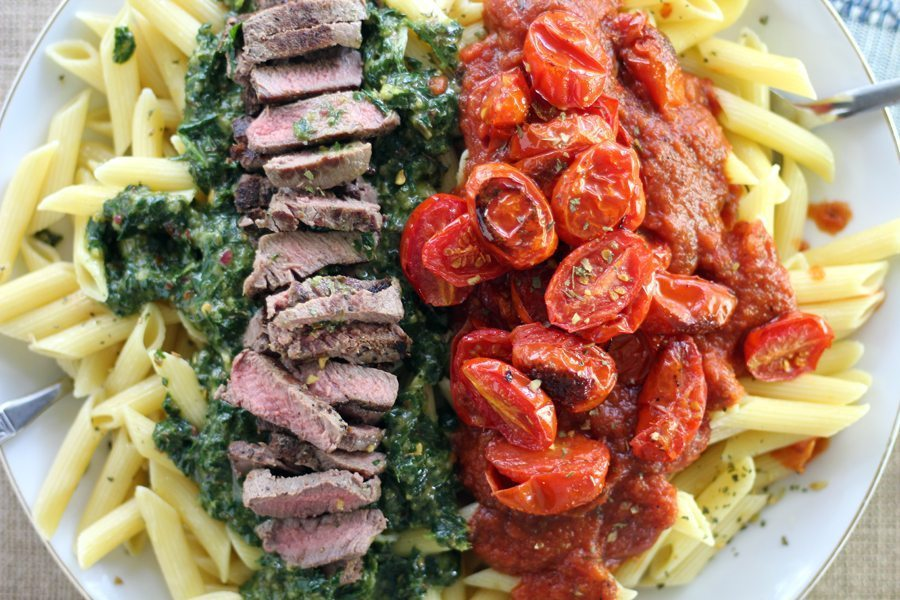 Chimichurri Steak Penne Pasta