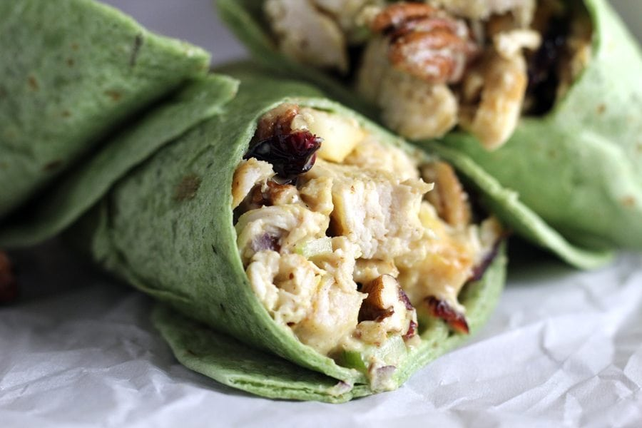 Pecan Chicken Wraps with Homemade Honey Mustard