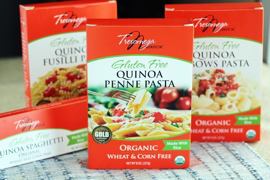 You have to try Quinoa Penne Pasta from Tresomega. Perfect for our chicken penne pasta recipe.