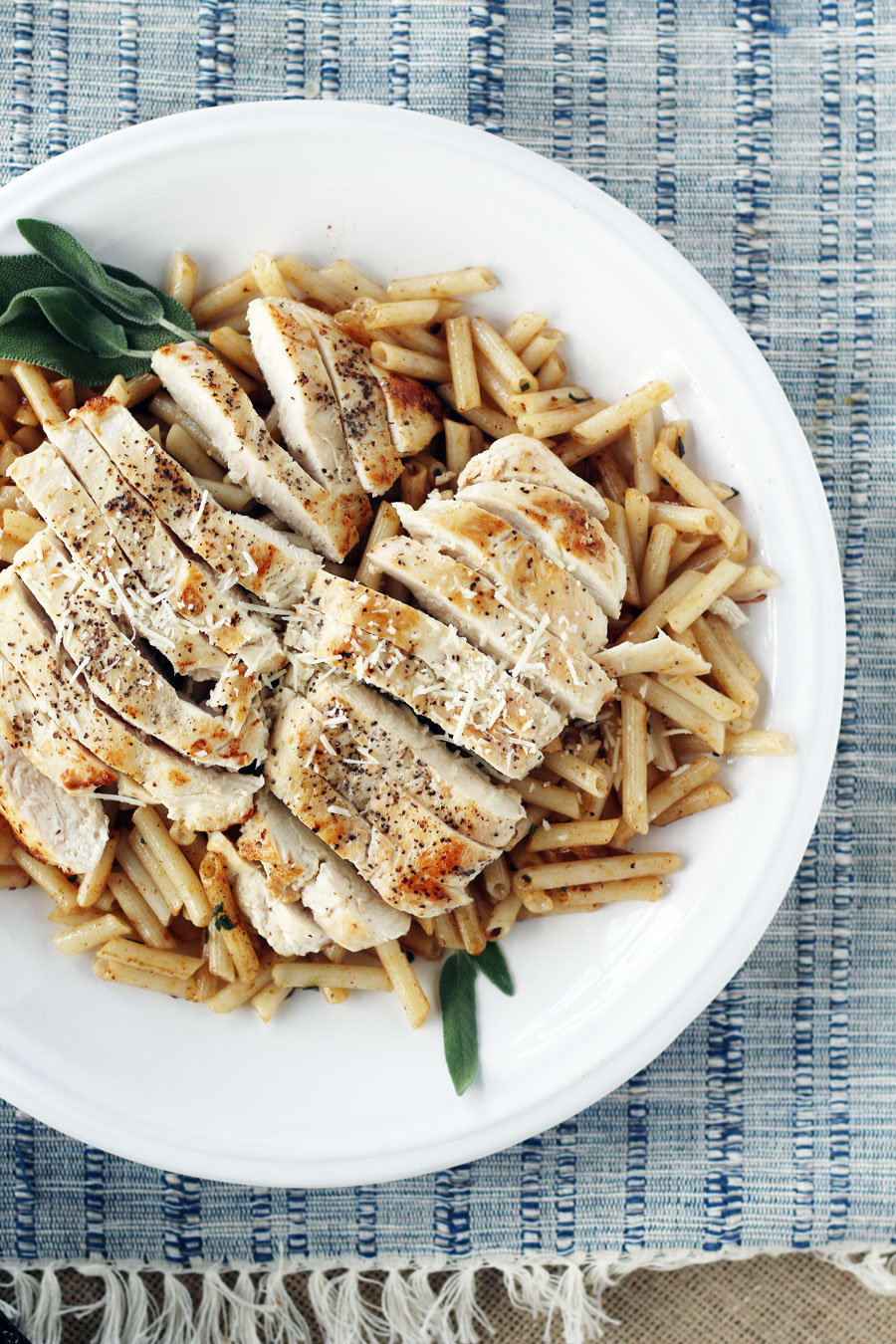 This hearty and rustic dish is simple to make, using wholesome ingredients. Brown Butter + Sage Chicken Penne Pasta