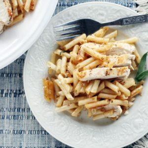 Brown Butter + Sage Chicken Penne Pasta