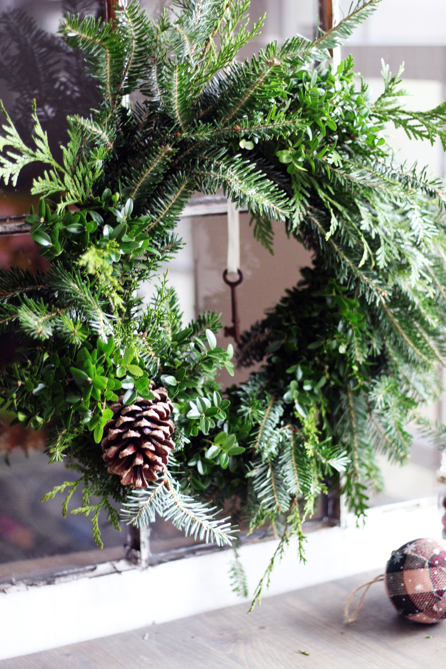 Make A Natural Christmas Wreath For Less Than 5 Buy This Cook That