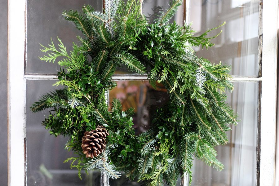 Simple + stunning, this natural Christmas wreath is perfect for our home this holiday season.