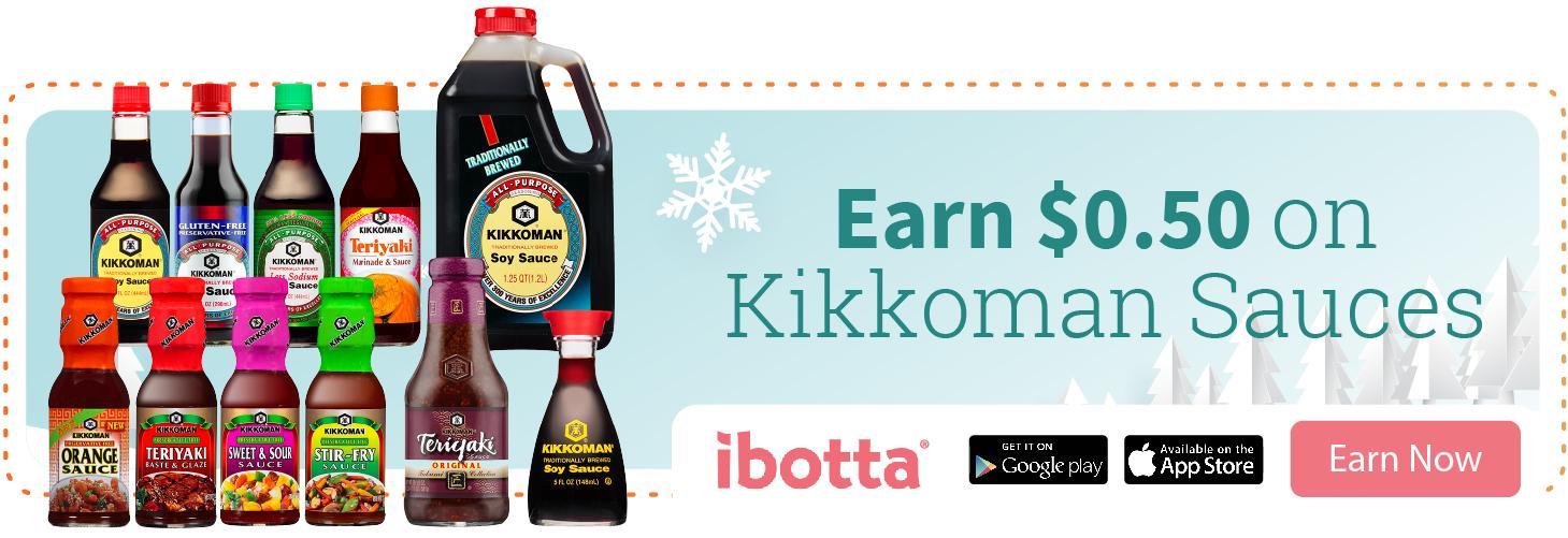 Special Ibotta Offer on Kikkoman Soy Sauce