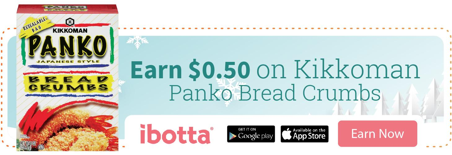 Earn cash back with Ibotta on Kikkoman Panko Bread Crumbs