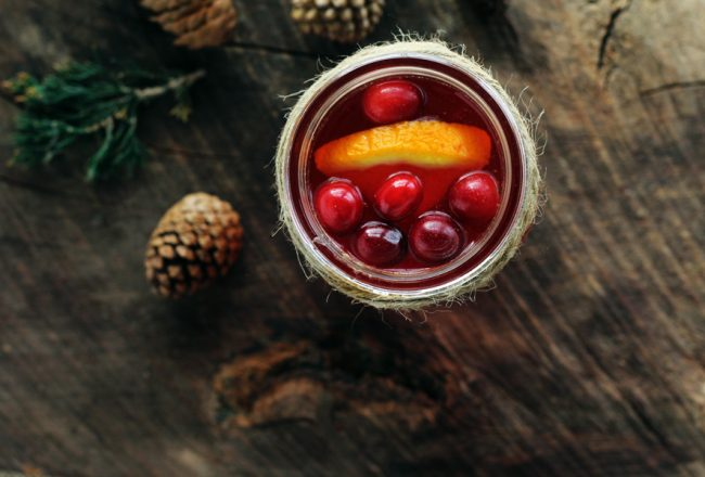 The best of the season, warm + cozy Spiced Cranberry Apple Cider.