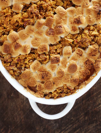 We mixed up the toppings on the best sweet potato casserole.