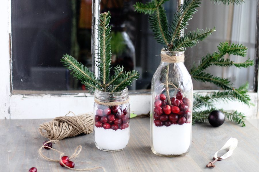 cranberry rustic christmas decor in less than 5
