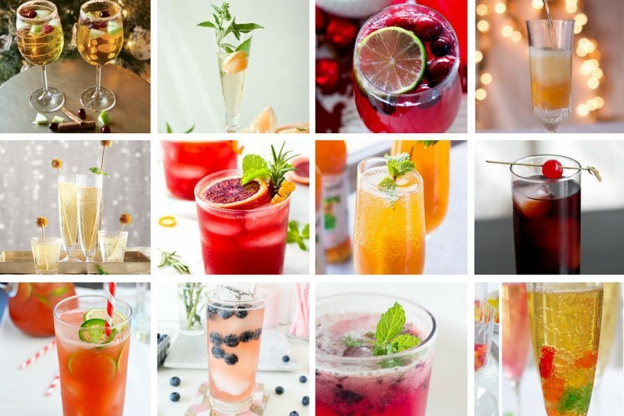 Fun and festive alcohol free sparkling mocktail recipes for your next party.