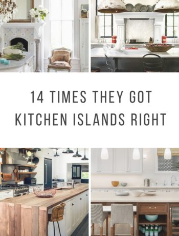 14 Excellent examples of great Kitchen Islands.
