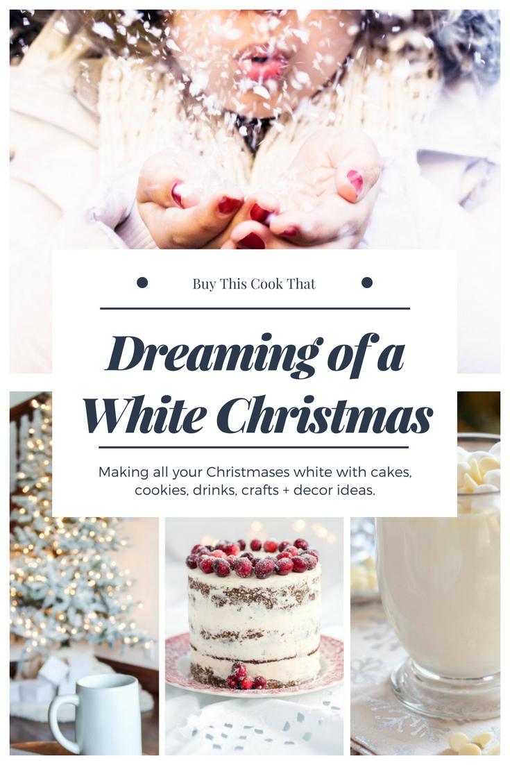 Are you dreaming of a white Christmas? I am making mine happen with cakes, cookies, drinks, crafts and decor.