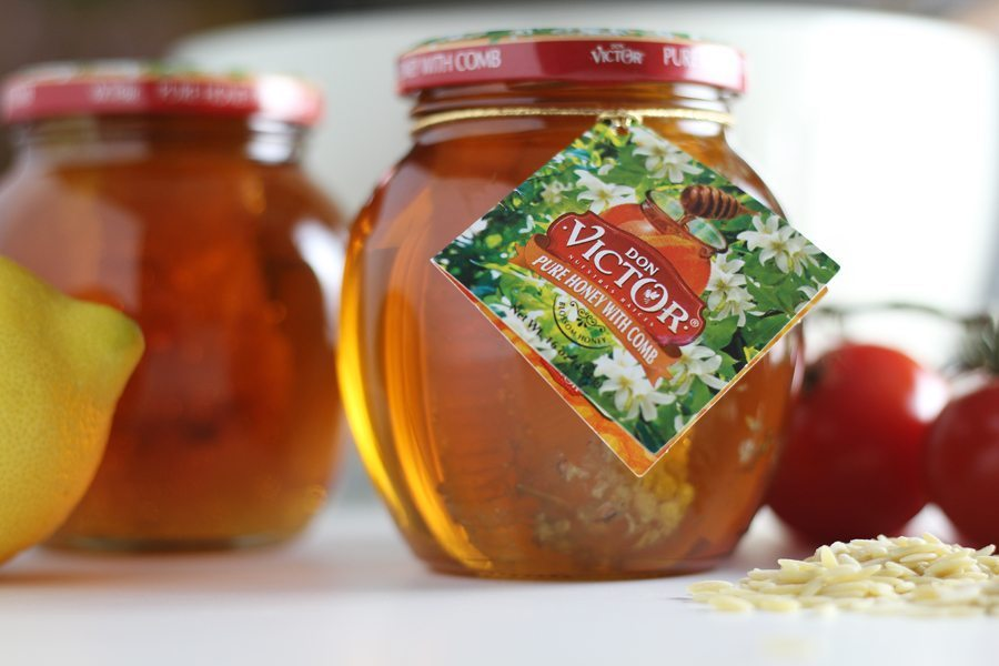 Don Victor Honey from Walmart, used in this orzo pasta recipe in the tangy dressing.