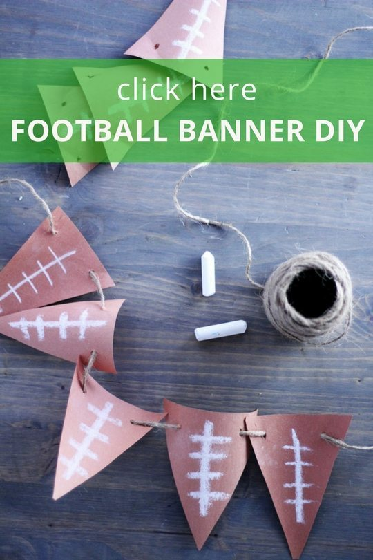 Get fast and easy instructions for this football banner DIY.