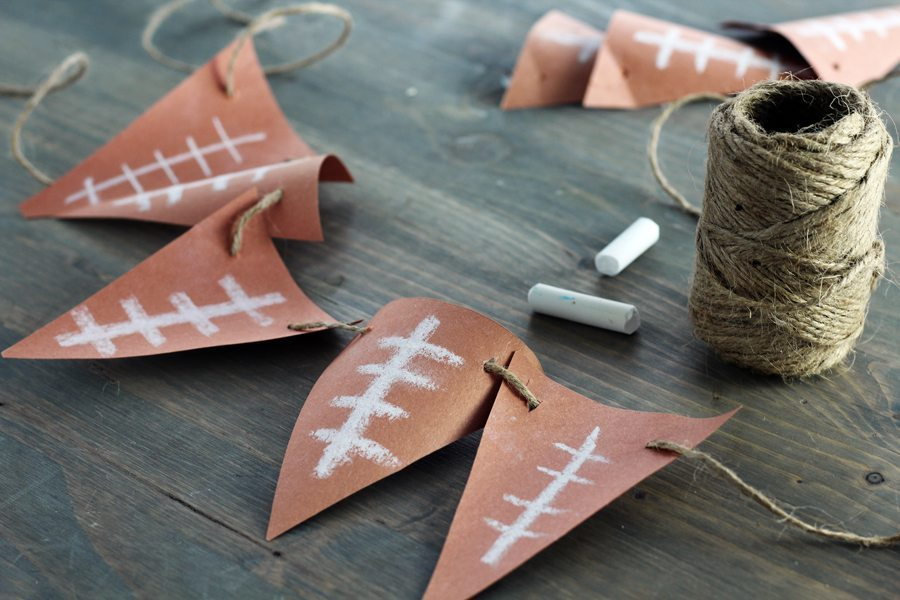 Fun, fast and easy DIY Football Banner for your next game day event.