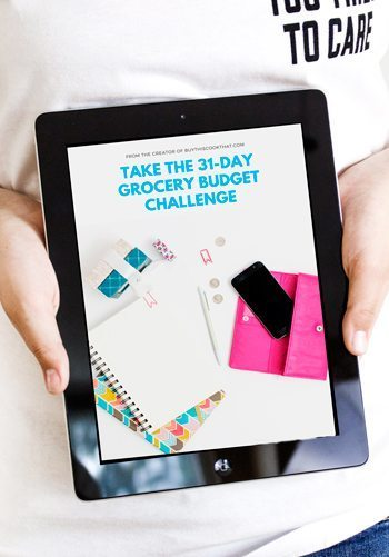Sign up and take the FREE 31 Day Grocery Budget Challenge