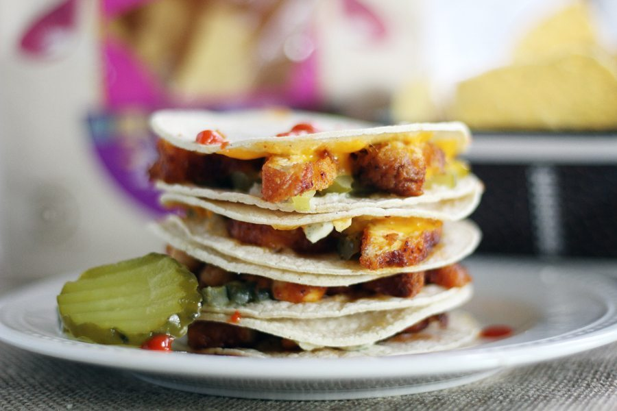 Nashville Hot Chicken Quesadillas...two of my favorite game day snacks combined into one.