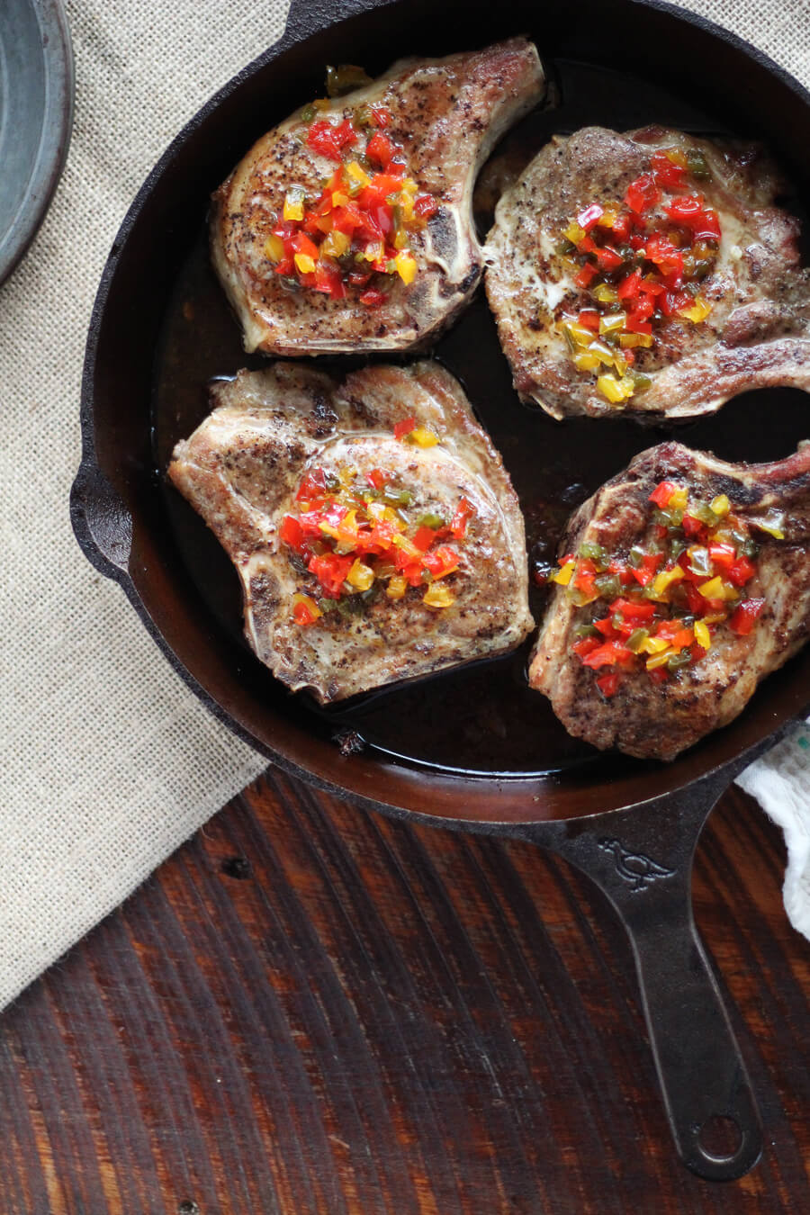 Pepper Jelly Skillet Pork Chops