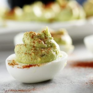 Delish! Southern Style Avocado Deviled Eggs have all the classic ingredients plus rich avocado.