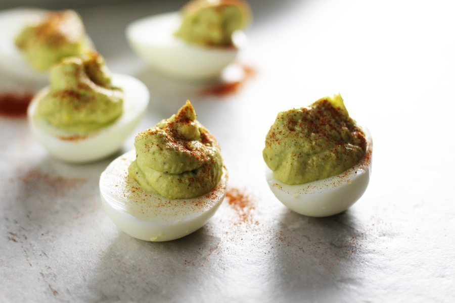 Why haven't I made avocado deviled eggs before? Perfect!