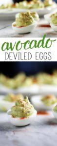 Avocado deviled eggs are my new favorite. Creamy and rich, they are additictive.