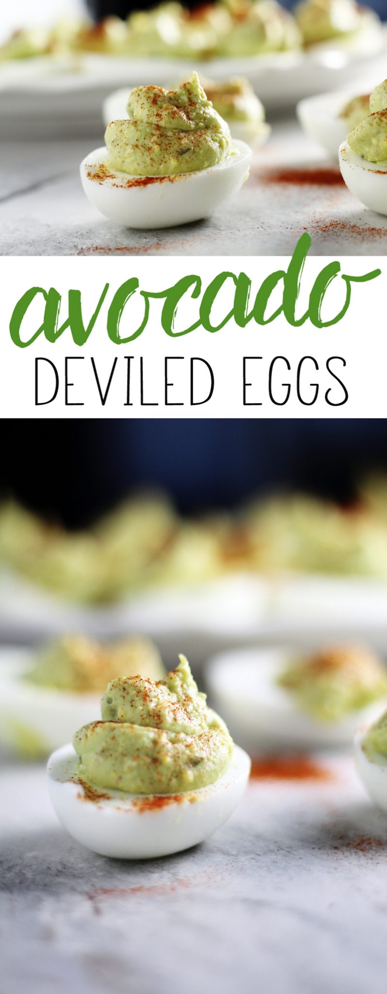 Southern Style Avocado Deviled Eggs - creamy and delicious with traditional deviled egg flavors and rich avocado. #simplyavocado #deviledeggs