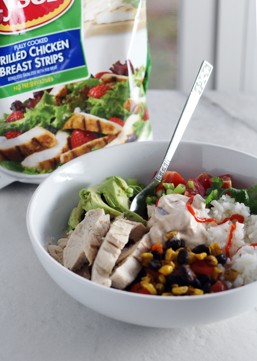 Meal time made easy (and great tasting, too), Southwestern Chicken Avocado Bowls.