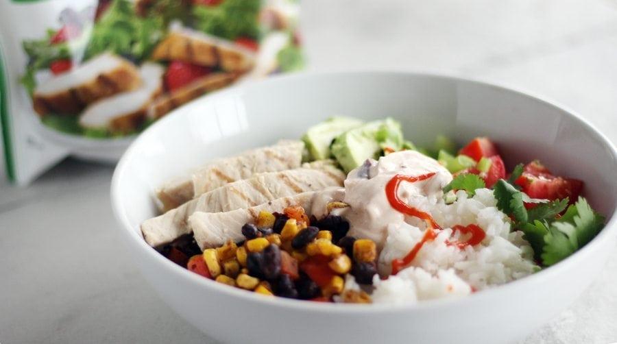 Lunch time, anyone? Southwestern Chicken Avocado Bowls