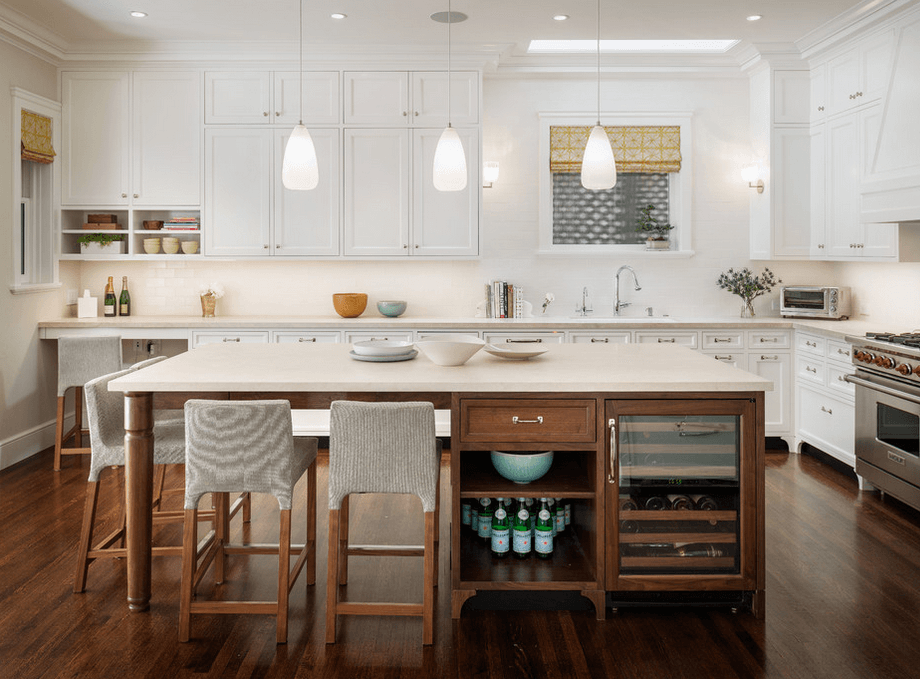 One of my favorite kitchen islands ever. Great design.