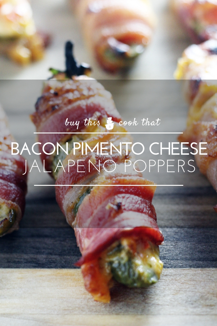 There's no shame in our game day food. Get a bite of these awesome Pimento Cheese Bacon Jalapeno Poppers.
