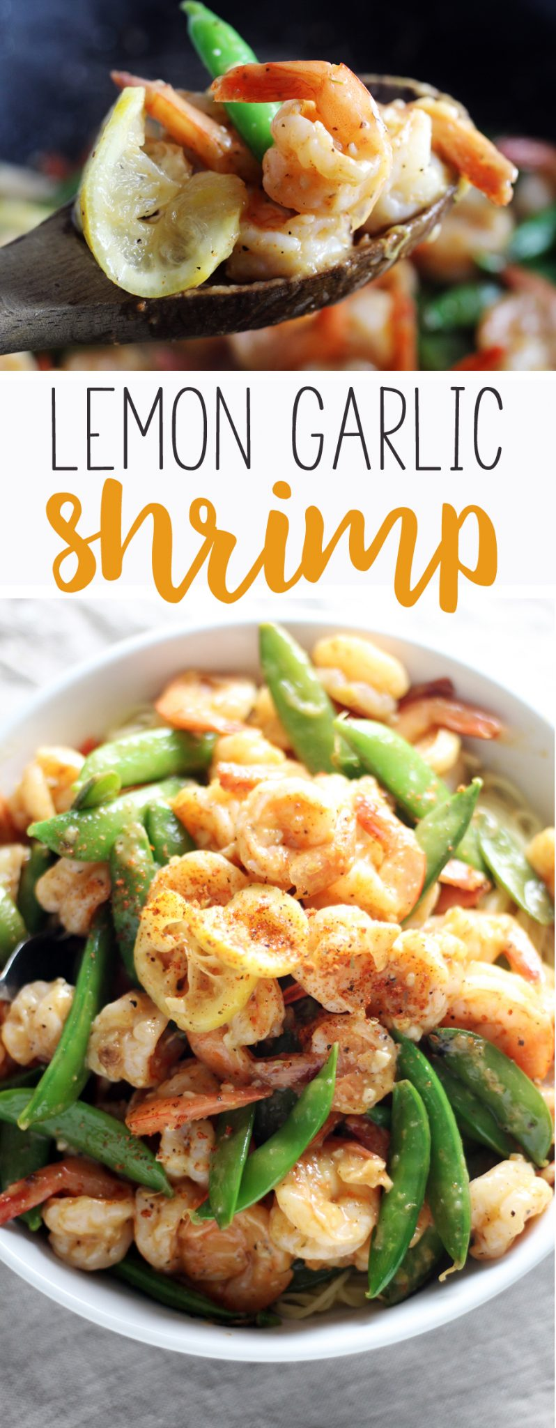 A fast + fabulous recipe for Lemon Garlic Shrimp. The light and zesty lemon garlic sauce clings to every bite for an amazing meal.