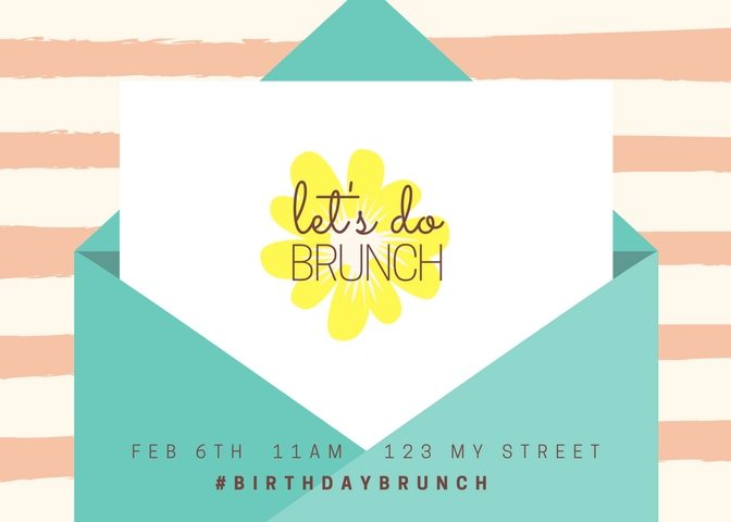 """Let's Do Lunch"" Waffle Bar Birthday Brunch Invitations"