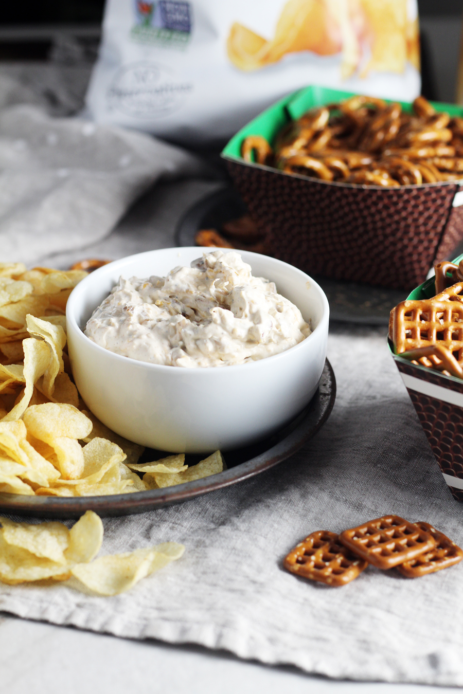 Delicious and savory homemade French onion dip