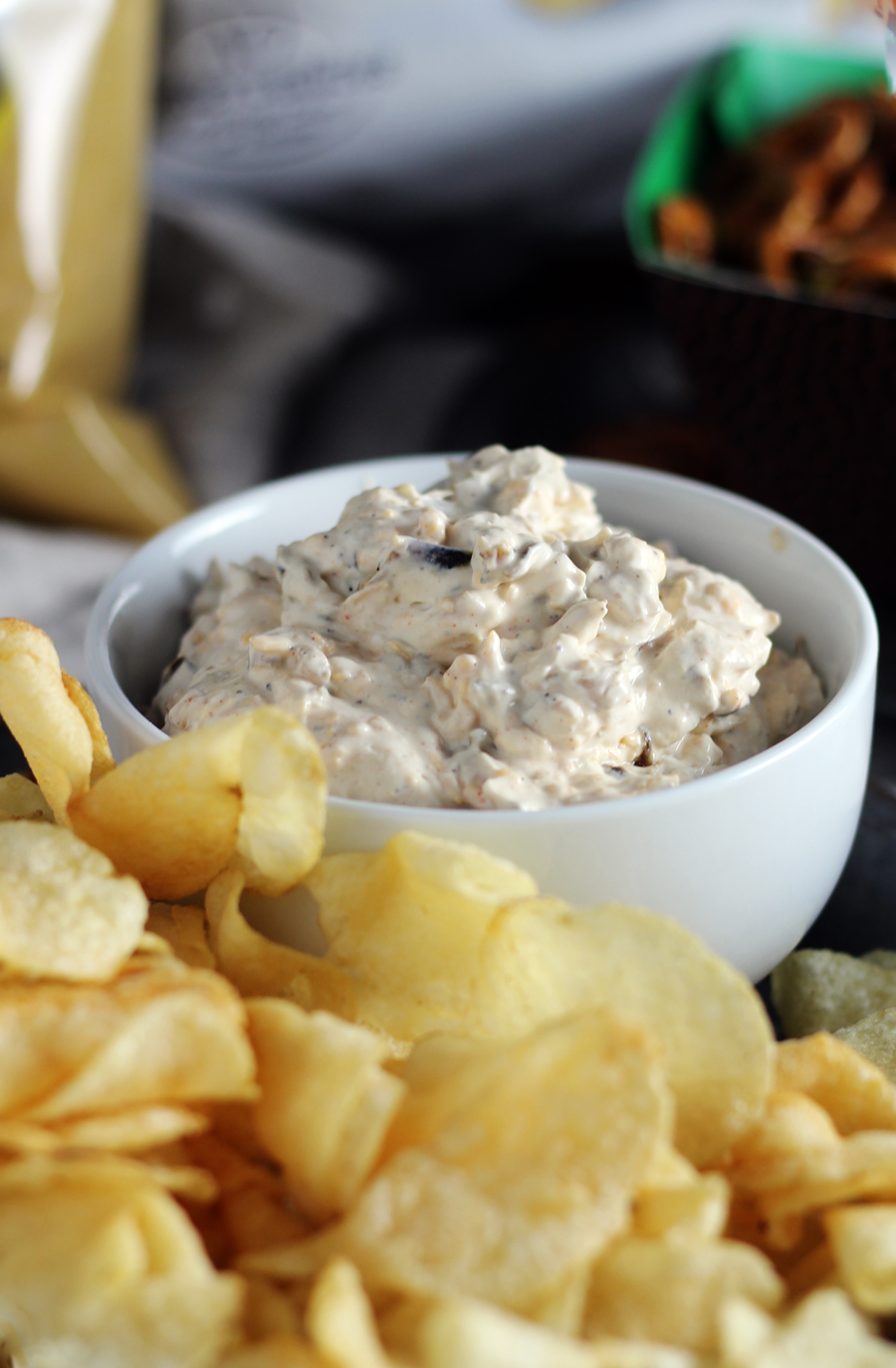 Can't wait to dig into this Sour Cream + Cheddar French Onion Dip.