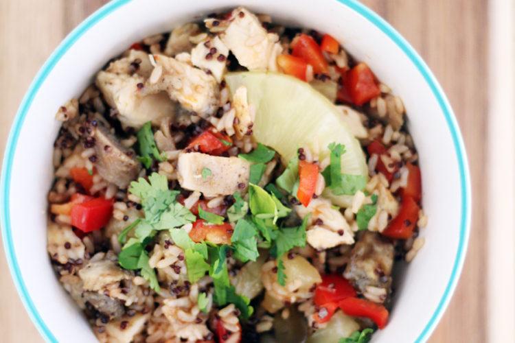 Sweet + Sour Hawaiian Rice + Quinoa Bowls