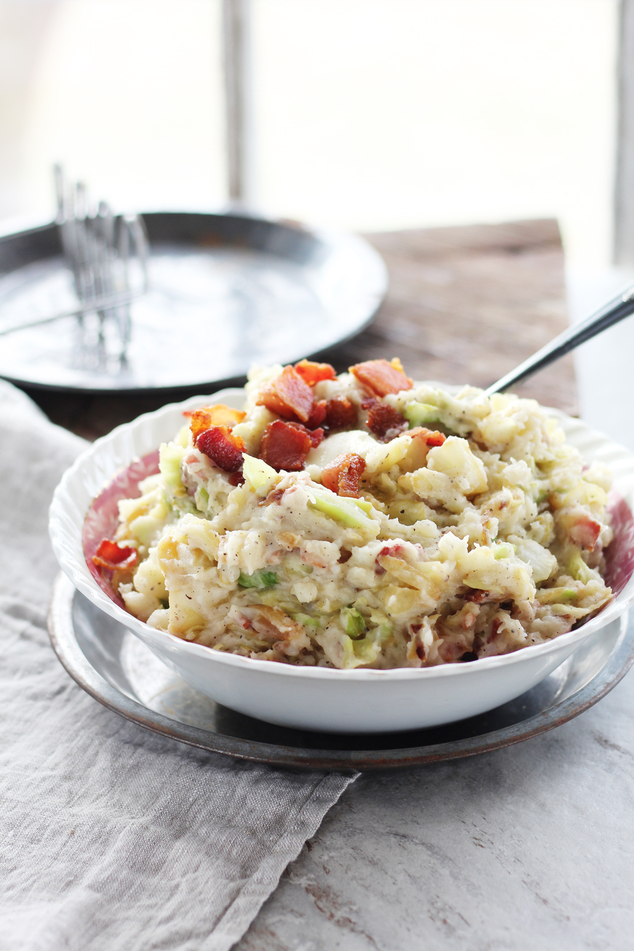 One of my favorite recipes ever...Irish Colcannon with Bacon.