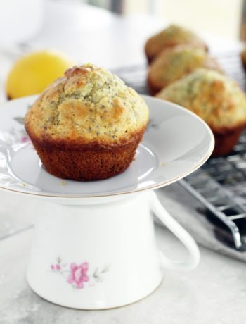 Light, lemony and moist Lemon Chia Seed Muffins are a delightful sweet treat.