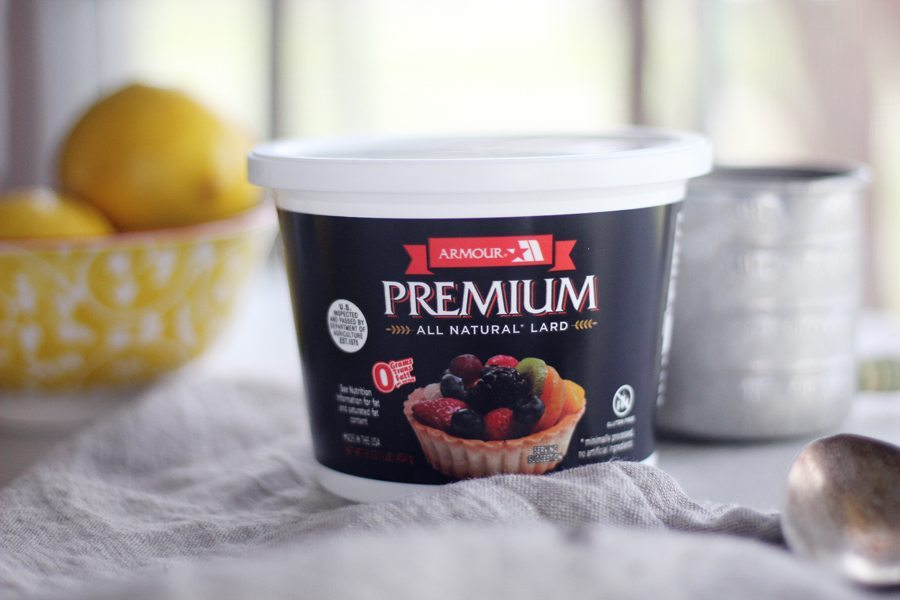 Believe it or not, we used Armour Premium All Natural Lard to make our Lemon Chia Seed Muffins. Light, spongy lemon muffins with wholesome chia seeds are delightful.