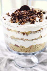 Peanut Butter Cup Punch Bowl Cake