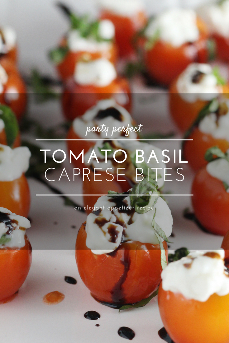 This light and tasty appetizer is a play on one of my all-time personal favorite things to eat: Caprese salad. The flavors of whole milk mozzarella, fresh basil, tangy tomatoes drizzled with balsamic.  This recipe is perfect for parties and fun + healthy snacking. Plus you can make this Caprese appetizer with a few wholesome ingredients that you will feel good about.
