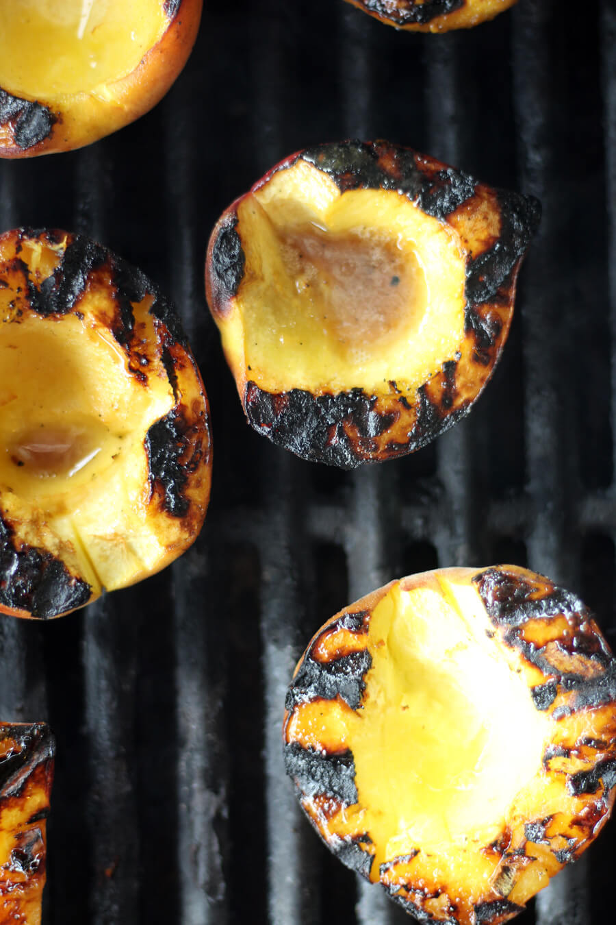 fresh peaches on the grill